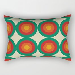 Bequia 16 - Classic Colorful Abstract Minimal Retro 70s Style Graphic Design Rectangular Pillow