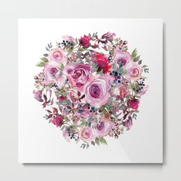 Bouquet of flower - wreath Metal Print