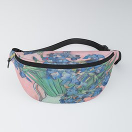 Van Gogh Irises Still Life With Pink Background Fanny Pack