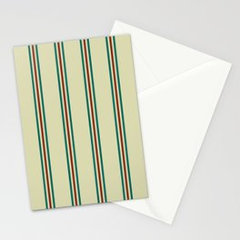 Retro Straight Stripe Stationery Cards