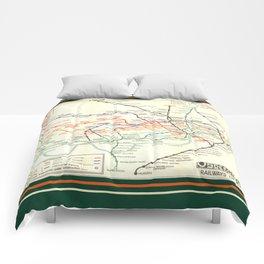 Vintage London Underground Map Comforters