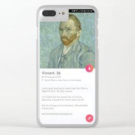 Vincent, 36. Clear iPhone Case