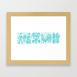 Butterprint - Vintage Pyrex in Turquoise Framed Art Print