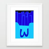 french fries Framed Art Prints featuring French Fries by WonderAbby