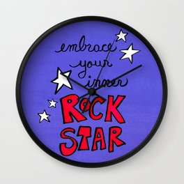 Embrace Your Inner Rock Star Wall Clock