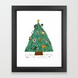 A messy Holiday Framed Art Print