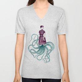 Victorian Cthulhu Lady Unisex V-Neck
