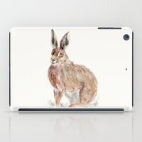 hare iPad Cases featuring HARE  by Joelle Poulos