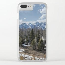 Grand Tetons from Schwabacher Road Clear iPhone Case
