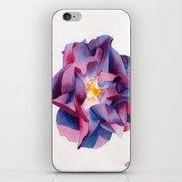 thanksgiving iPhone & iPod Skins featuring Thanksgiving Dahlia by Powers Fine Art Watercolor Studio