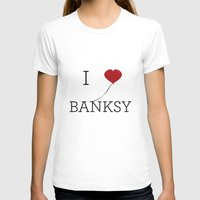 banksy T-shirts featuring I heart Banksy by Simple Symbol