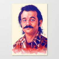 bill Canvas Prints featuring Young Mr. Bill Murray by Thubakabra