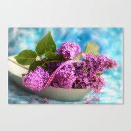 Syringa vulgaris #lilac still life Canvas Print