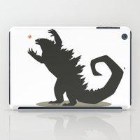 godzilla iPad Cases featuring Godzilla by Arsyl Art