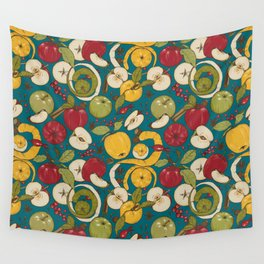 Apples, autumn harvest Wall Tapestry