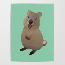 Quokka Polygon Art Poster