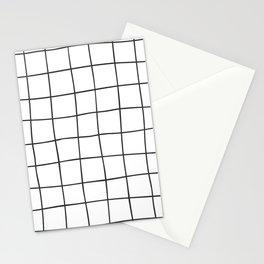 Black Grid V3 Stationery Cards
