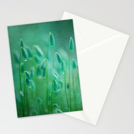 green microcosmos Stationery Cards