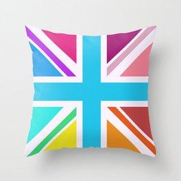 Union Jack/Flag Design Multicoloured Throw Pillow