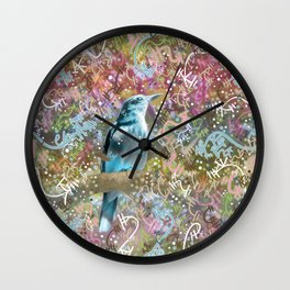 Little Scrub Jay Wall Clock
