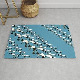 Sea-cool diagonal pattern 3 Rug