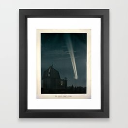 The great comet of 1881 Étienne Léopold Trouvelot Framed Art Print