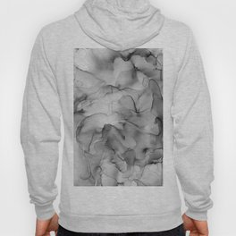 Black and White Marble Ink Abstract Painting Hoody