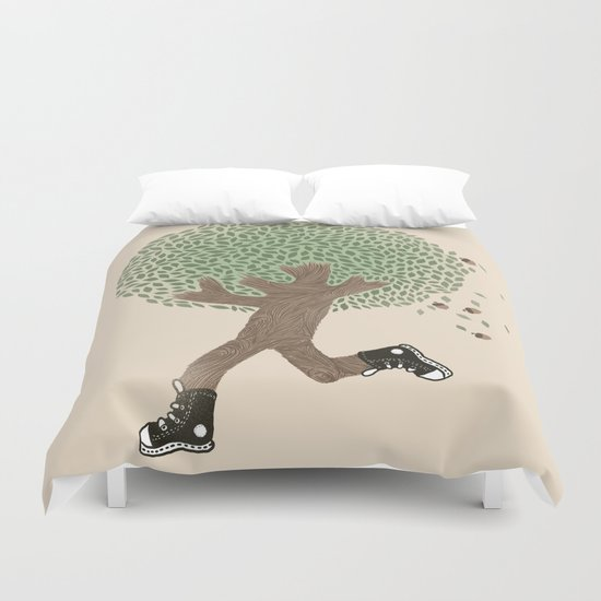 Run For Your Life Duvet Cover