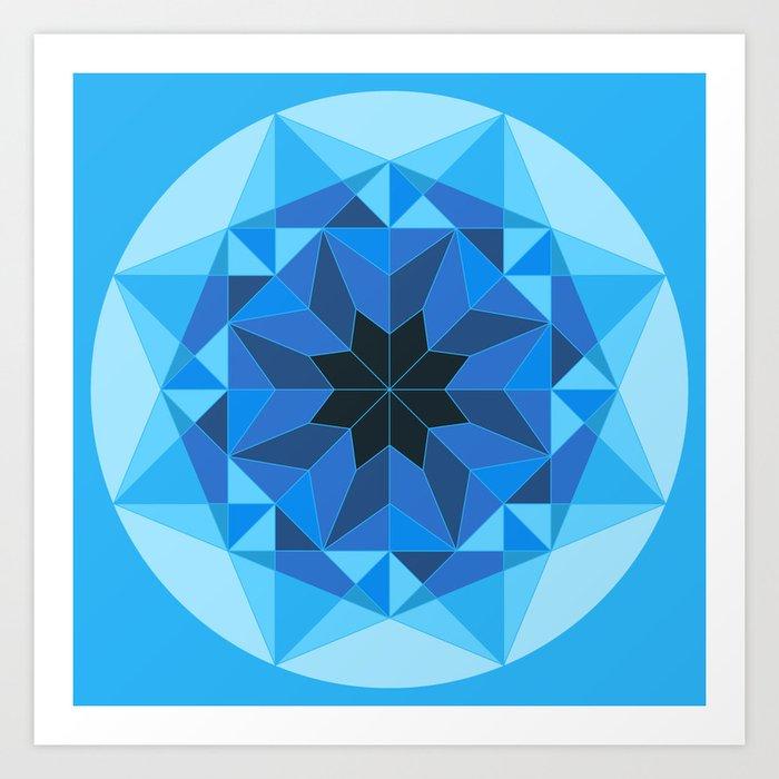 Deconstructed Diamond Art Print