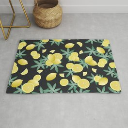 Lemon Twist Vibes #5 #tropical #fruit #decor #art #society6 Rug