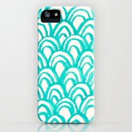 Minty Scales of the Sea iPhone Case