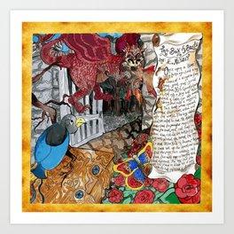 Book of Beasts by E.Nesbit illustration  Art Print