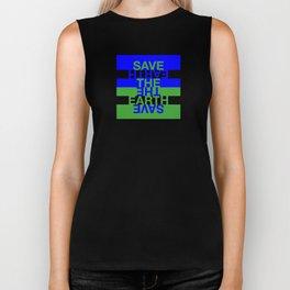 Save the Earth Biker Tank
