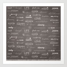 Life on a Chalkboard Art Print