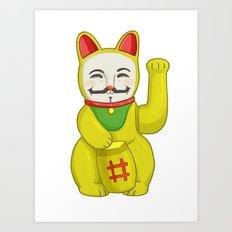 Occupy Lucky Cat Art Print