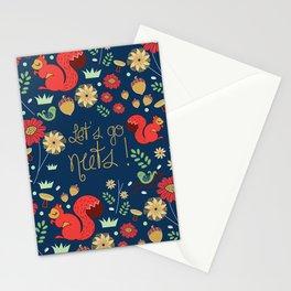 Let's go nuts! - Surface Pattern Design - ByBeck Stationery Cards