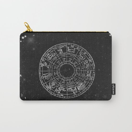Black and White Vintage Star Map Carry-All Pouch