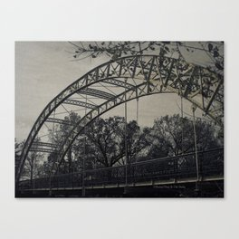 Rustic Steel Bridge Architectural Industrial A173 Canvas Print