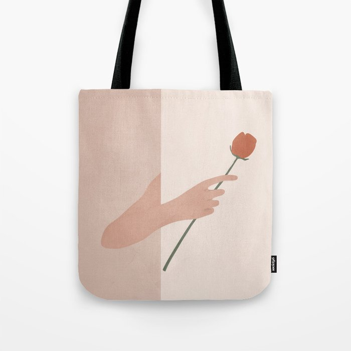 One Rose Flower Tote Bag