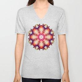 Decorative mandala abstract with translucent colors Unisex V-Neck