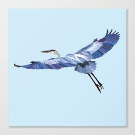 Great Blue Heron - illustration Canvas Print