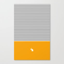 Line Edition Yellow Canvas Print
