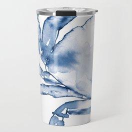 Coastal Crab in Watercolor, Navy Blue (Left Half in Set) Travel Mug