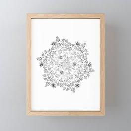 Beautiful ornamental floral circle Framed Mini Art Print