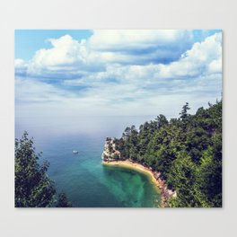 Miners Castle rock formation Canvas Print