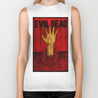 evil dead Biker Tanks featuring Evil Dead by Pineyard