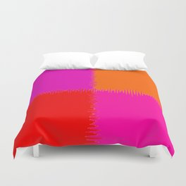 QUARTERS #1 (Red, Orange, Purple & Fuchsia) Duvet Cover