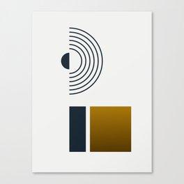 Soir 03 // Abstract Geometry Minimalist Illustration Canvas Print