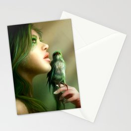 Green Whisper Stationery Cards