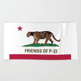Friends of P-22 Beach Towel